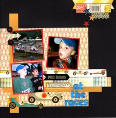 3 photo 1 page At The Races (Use Your Stash Challenge)  Deanna13 @ A Cherry on Top