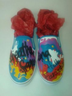 Custom Handpainted Breathe Carolina Slip On by InsidiousApparel, $60.00 I NEED THESE!