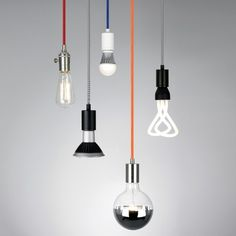 Bare bulbs have never looked so fine. The Tech Lighting SoCo Modern Socket Pendant features the beauty of bare bulbs combined with a myriad of choices in color, finish and length. In fact, that Lamp Light, Pendant Lighting, Lighting Inspiration, Modern Lighting, Kitchen Lighting Fixtures Ceiling, Tech Lighting, Light Fixtures, Lights, Pendant Light
