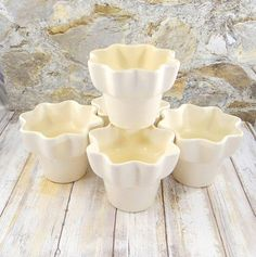 Mid Century Modern Hull Imperial Pottery Planters Set of Five
