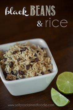 These Black Beans and Rice are super easy to make, taste fantastic, and are a great side dish to any Mexican main dish. {Self Proclaimed Foodie}