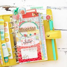 theplannersociety: I couldn't resist any longer! I had to share this gorgeous photo of @createwithbeth! She created the most adorable planner set up with the August Planner Society kit ( and I can see she mixed in stuff from both May and July too! I love it!!). ❤️