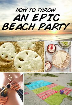 How To Throw An Epic Beach Party -  Basically, you need a way to hide your cocktails and keep 'em cold. Everything else will fall into place once that's taken care of..