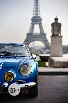Renault Alpine A110 -  Although I already have a post of this beautiful French legend, I would not forgive myself NOT posting this beautiful shot of it in front of the Eiffel tower!
