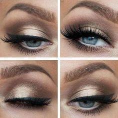 prom makeup for hazel eyes and white dress - Google Search More #eyemakeupforglasses