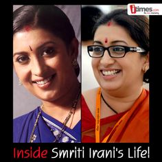 From a soap opera star to a politico, Smriti Irani has come a long way from just playing the character of Tulsi. On her birthday have a look at some of her rare pictures