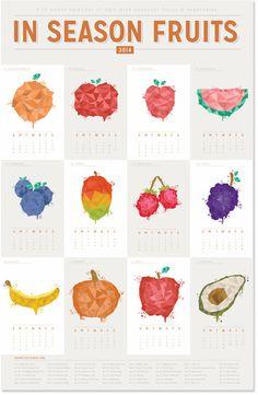FRUIT & VEGETABLES CALENDAR by Ramiro Carranza, via Behance