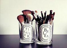 makeup brush organization idea