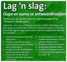 Lag ñ slag! ~ My Taal Afrikaans!