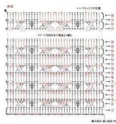 Zig Zag Crochet, Crochet Boarders, Crochet Cable, Manta Crochet, Crochet Stitches Chart, Crochet Diagram, Stitch Patterns, Crochet Patterns, Celtic Patterns