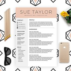Resume Template with FREE cover letter which will help you send in that resume which will get you that job you're really after and keen to be employed for. Modern Resume Template, Resume Template Free, Resume Folder, Job Resume, Business Resume, Student Resume, Resume Tips, Resume Examples, Date