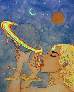 Ideas For Trippy Art Artwork Trippy Drawings, Art Drawings, Psychedelic Art, Art Pop, Black Girl Art, Art Girl, Art Et Design, Trippy Painting, Hippie Painting