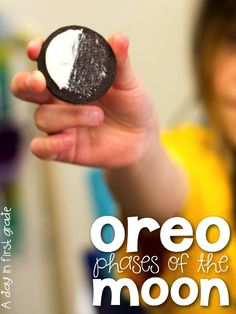Love this lesson!! {Oreo phases of the Moon} So much fun!!