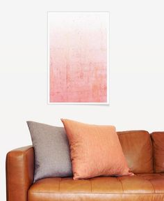 Pink Ombre als Premium Poster