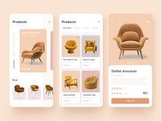 Ikea's Furniture Catalog designed by Upik Oktafiani. Connect with them on Dribbble; Mobile Web Design, App Ui Design, Interface Design, Ikea App, App Design Inspiration, Furniture Catalog, Application Design, Design Development, Product Catalog Design