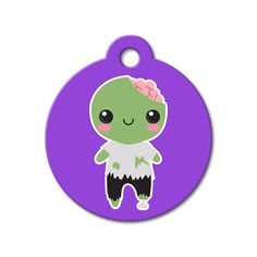 Zombie - Halloween Pet Tag #holidays #dogtagsfordogs #pettags #dogaccessories #dogfashion #dogs #pets #etsy #etsyfinds #halloween #zombie