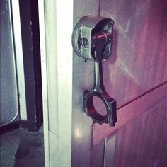 Piston Door handle!!! (tweeted by Ken Block)