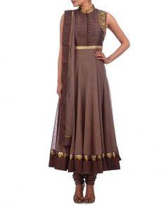 Chocolate color long anarkali suit.For shop online visit http://www.lushika.com/salwar-kameez/online-indian-designer-anarkali-suits-shopping-store.html  #anarkali #style #suits #onlineshopping #lushika #pakistanfashion #desi #bridal #india #london #newyork #desifashion #desicouture #salwarkameez #suitsonlineshopping #trend