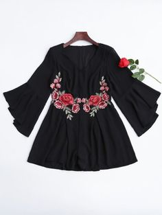 SHARE & Get it FREE | Flare Sleeve Ruffles Floral Embroidered RomperFor Fashion Lovers only:80,000+ Items • New Arrivals Daily • FREE SHIPPING Affordable Casual to Chic for Every Occasion Join Zaful: Get YOUR $50 NOW!