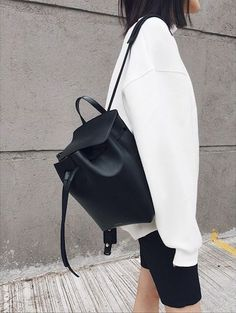 We love the Mansur Gavriel backpack just as much as we love the bucket bag.