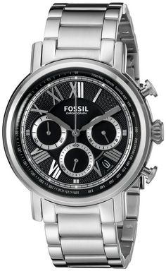 Fossil Buchanan Men's Silver Analog watch FS5104 ewatchesusa.com