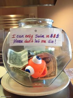 I Can Only Swim In Money Tip Jar SUPPORT insert name here