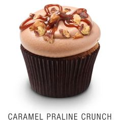 Caramel Praline Crunch Cupcake *MUST HAVE* The caramel and pralines are great together.