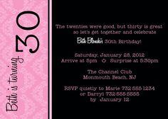 printable 30th birthday invitations