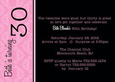 printable 30th birthday invitations