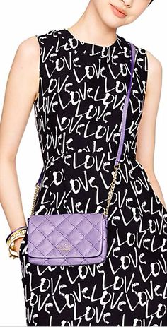 quilted lilac crossbody