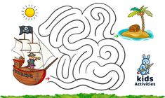 Funny mazes for kids printable Preschool Puzzles, Preschool Activities At Home, Maze Puzzles, Preschool Lessons, Indoor Activities, Mazes For Kids Printable, Kids Mazes, Maze Games For Kids, Coloring For Kids
