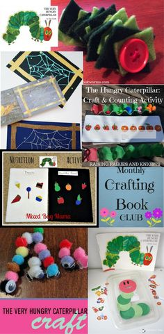 The Hungry Caterpillar - Practice fine motor skills, colour recognition & counting in this fun The Hungry Caterpillar: Craft & Counting Activity for the Monthly Crafting Book Club
