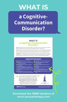 After a stroke, brain injury, or in dementia, communication can suffer along with cognition. Learn why and what to do for cognitive-communication disorders. Brain Injury Recovery, Stroke Recovery, Traumatic Brain Injury, Aphasia Therapy, Cognitive Therapy, Speech Therapy, Speech Language Pathology, Speech And Language, Brain Diseases