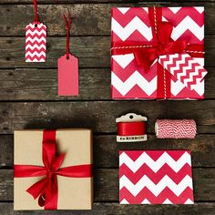 recycled red chevron white wrapping paper by sophia victoria joy. Christmas shopping is almost done. Now to wrap! Noel Christmas, Christmas Gifts, Chevron Christmas, Christmas Ribbon, Christmas Shopping, Christmas Ideas, Holiday Market, Holiday Sales, White Wrapping Paper