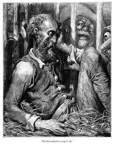 Don Quixote in a Cage — Gustave Doré