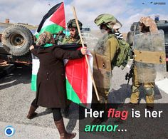 Her flag is her armor