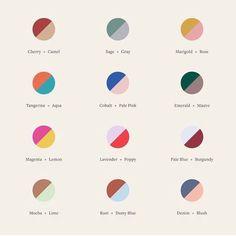 New at our Crosby Street studio: a color-theory cheatsheet to guide you through your next mani. Colour Pallete, Colour Schemes, Color Combos, Color Patterns, Color Palettes, Colour Combinations Fashion, Web Design, Logo Design, House Design
