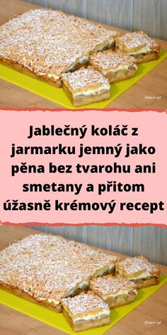 Bread Dough Recipe, Czech Recipes, Cereal, French Toast, Cooking Recipes, Breakfast, Pastries, Food, Sweet