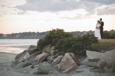 A Modern Nautical Wedding at Newport Beach House in Middletown, Rhode Island