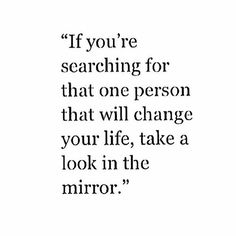 take a look in the mirror
