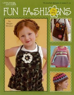 Her fashion dolls shouldn't have all thedress-up fun--not when you can quickly crochet 14 easy designs for theyoung stylista's wardrobe! Sweet details like crocheted flowers andbold buttons highlight a number of gotta-have-'em garments andaccessories. Instructions for the cool tops are written in sizes 2-6.Matching hats and handbags join a pair of hand mitts, a kerchief, and aruffle-trimmed shrug to round out the collection. Now your little misswill hav
