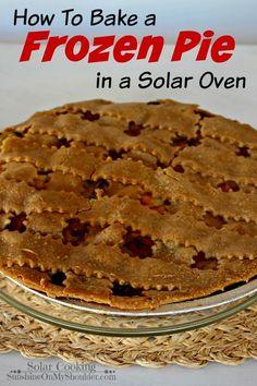 Frozen Pie baked in a solar oven