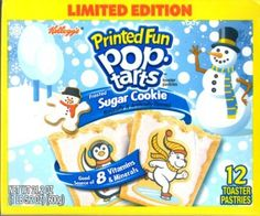 Frosted Sugar Cookie Printed Fun Poptarts (2 packages with 12 each)