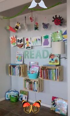 Reading Nook Simply Wright: Reading Nook<br> Playroom/Children's Reading Nook. Classroom Images, Classroom Decor Themes, Preschool Classroom, Preschool Reading Corner, Reading Nook Kids, Scrap Paper Storage, Ideas Para Organizar, Book Corners, Book Organization