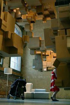 Cardboard Cloud in Installation Art