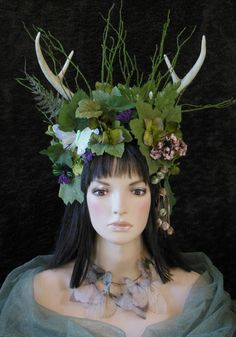 Fantasy Fairy Fawn Nymph Pixie Woodland Queen by MIMSYCROWNS