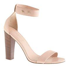 Lanie stacked-heel sandals - sandals - Women's shoes - J.Crew