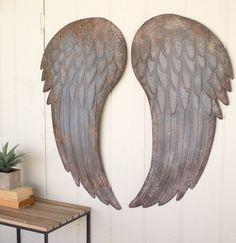 Large Metal Angel Wings