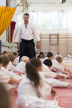 Children class at Igarashi Kazuo shihan's camp. Budapest, Hungary - 2017