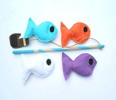 Felt Fishing Game, Fishing Toy, Ecofriendly, Montessori Toy - READY MADE